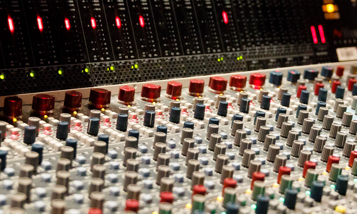 Close up of mixer table